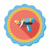 Water Gun flat icon with long shadow,eps10 — Stock Vector