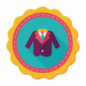 Wedding grom suit flat icon with long shadow,eps10 — Stock Vector