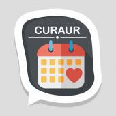 Wedding day calendar flat icon with long shadow,eps10 — Vettoriale Stock