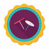 Blades propeller toy flat icon with long shadow — Stock Vector