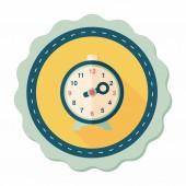 Płaski ikonę budzik z długim cieniem, eps10 — Wektor stockowy