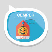 Halloween SALE flat icon with long shadow,eps10 — Stock Vector