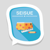 Pencil box flat icon with long shadow,eps10 — Wektor stockowy