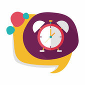 Alarm clock flat icon with long shadow,eps10 — ストックベクタ