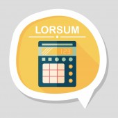 Calculator flat icon with long shadow,eps10 — Stock vektor