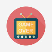 TV game flat icon with long shadow,eps10 — Stock Vector