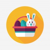Easter bunny flat icon with long shadow,eps10 — Wektor stockowy