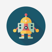 Robot flat icon with long shadow,eps10 — Stockvector