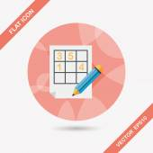Sudoku flat icon with long shadow,eps10 — Stock Vector