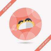 Sandwich flat icon with long shadow,eps10 — Cтоковый вектор