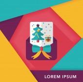 Vánoční přání ploché ikony s dlouhý stín, eps10 — Stock vektor