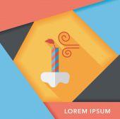 ícone plana velas de aniversário com sombra longa, eps10 — Vetor de Stock