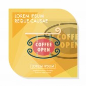 Coffee shop signs flat icon with long shadow,eps10 — Stock Vector