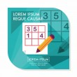Sudoku flat icon with long shadow,eps10 — Stock Vector #70539289
