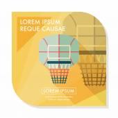 Basketball backboard flat icon with long shadow,eps10 — Stock Vector