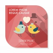 Valentine's Day lover bird flat icon with long shadow,eps10 — 图库矢量图片
