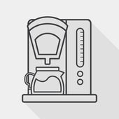 Coffee machine flat icon with long shadow,eps10 — Stock Vector