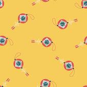 çin yeni yılı uzun gölge, eps10, çinli şenlik ile düz simgesi — Stok Vektör