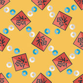 Chinese New Year flat icon with long shadow,eps10, Chinese coupl — Stockvektor
