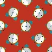 Çalar saat düz simgesi, eps10 Dikişsiz desen arka plan — Stok Vektör