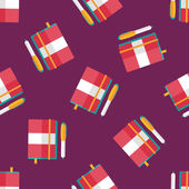 Notebook flat icon,eps10 seamless pattern background — Vettoriale Stock