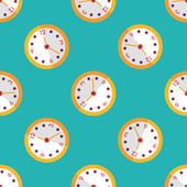 Clock flat icon,eps10 seamless pattern background — Stock vektor