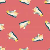 Sneaker flat icon,eps10 seamless pattern background — Stock Vector