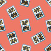 Scoreboard flat icon,eps10 seamless pattern background — Stock Vector