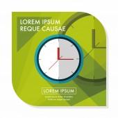 Plochý ikona hodin s dlouhý stín, eps10 — Stock vektor