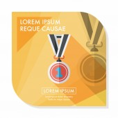 Medaile ploché ikony s dlouhý stín, eps10 — Stock vektor