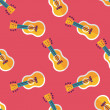 Guitar flat icon seamless pattern background — Stock Vector #72004349