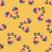 Baby rattle flat icon,EPS 10 seamless pattern background — Stockvector