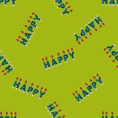 Doğum günü mumları düz simgesi, eps10 Dikişsiz desen arka plan — Stok Vektör