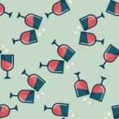 Martini glas skål flat ikonen, eps10 sömlös bakgrund — Stockvektor