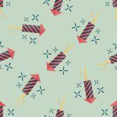 Firecracker flat icon,eps10 seamless pattern background — Stock Vector