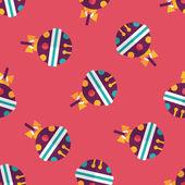 Kerstmis bal platte pictogram, eps10 naadloze patroon achtergrond — Stockvector