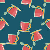 Coffee flat icon,eps10 seamless pattern background — Vettoriale Stock