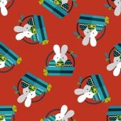 Pascua bunny flat icono transparente fondo eps10 — Vector de stock