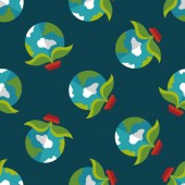 Environmental protection concept flat icon,eps1 seamless pattern background — Stockvector