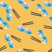 Sushi z płaskim ikona, tło wzór eps10 — Wektor stockowy