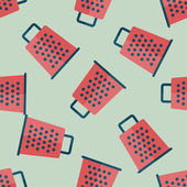 Kitchenware grater flat icon,eps10 seamless pattern background — Stock Vector