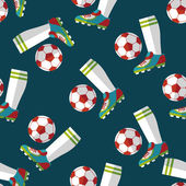 Soccer flat icon,eps10 seamless pattern background — Stock Vector
