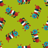 Caterpillar flat icon,eps10 seamless pattern background — Vecteur