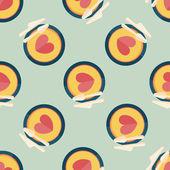 Walentynki obiad płaski ikona, tło wzór eps10 — Wektor stockowy