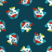 Wedding bride flat icon,eps10 seamless pattern background — Vector de stock