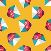Dia dos namorados amor carta plana ícone eps10 sem costura de fundo — Vetor de Stock