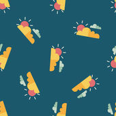 Sun and Cloud flat icon,eps10 seamless pattern background — Vecteur