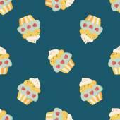 Valentine's Day cupcake flat icon,eps10 seamless pattern background — Wektor stockowy