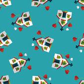 Wedding church flat icon,eps10 seamless pattern background — Stock Vector