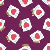 情人节那天爱信平图标,eps10 无缝图案背景 — 图库矢量图片